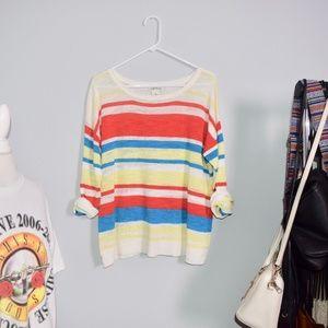 Orvis Rainbow Stripe Multi Sweater.